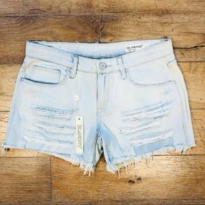 Blank NYC Distressed Denim Tomboy Jean Shorts